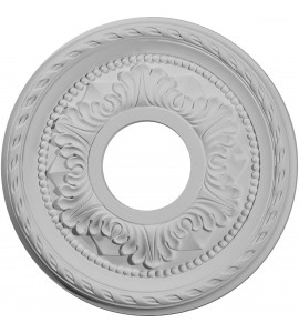 "EM-CM11PM - 11 3/8""OD x 3 5/8""ID x 7/8""P Palmetto Ceiling Medallion (Fits Canopies up to 4 1/2"")"