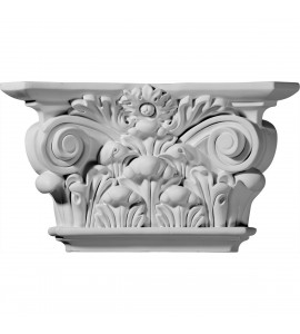 "EM-CAP12X06X03AC - 12 1/4""W x 6 7/8""H x 3 1/2""D Acanthus Leaf Capital (Fits Pilasters up to 6 5/8""W x 1 1/8""D)"