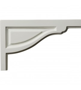 "EM-SB11X07TR-R - 11 3/4""W x 7 3/8""H x 1/2""D Large Traditional Stair Bracket, Right"