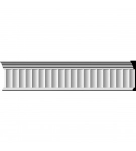 "EM-MLD07X01EL - 7 3/4""H x 1""P x 96""L Elsinor Fluted Frieze"