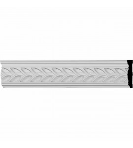 "EM-PIR03X00MO - 3 1/8""H x 5/8""P x 96""L Monique Pierced Moulding with Backplate"