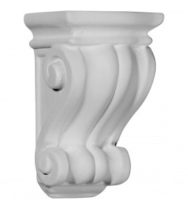 "EM-COR03X03X06CO - 3 1/8""W x 3""D x 5 1/4""H Traditional Cole Pilaster Corbel"