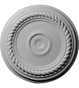 "EM-CM07AL - 7 7/8""OD x 3/4""P Small Alexandria Ceiling Medallion (Fits Canopies up to 4 5/8"")"