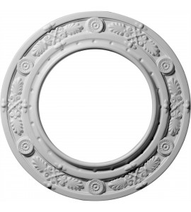 "EM-CM10DN - 10""OD x 6 1/8""ID x 1/2""P Daniela Ceiling Medallion (Fits Canopies up to 6 1/8"")"