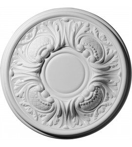"EM-CM11WA - 11 3/4""OD x 1 1/4""P Wakefield Ceiling Medallion (Fits Canopies up to 3 5/8"")"