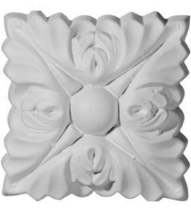 """EM-ROS03X03SK - 3""""W x 3""""H Sellek Square Rosette (Can be used with Sellek Panel Moulding)"""
