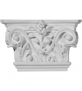 "EM-CAP08X05X02AC - 8 5/8""W x 5 1/2""H Acanthus Leaf Capital (Fits Pilasters up to 5 1/4""W x 3/4""D)"