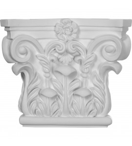 "EM-CAP08X07X03RC - 8 5/8""W x 7 1/4""H Corinthian Capital (Fits Pilasters up to 5 5/8""W x 3/4""D)"