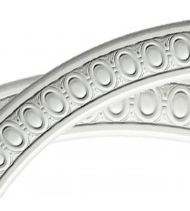 "EM-CR20EG - 42""OD x 36""ID x 3""W x 3/4""P Egg and Dart Ceiling Ring (1/4 of complete circle)"