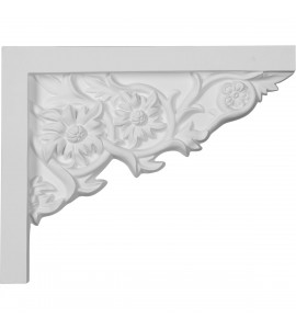 "EM-SB09X07FL-R - 9""W  x 7 1/4""H x  5/8""P Floral Small Stair Bracket, Right"