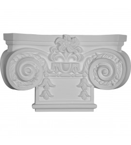 "EM-CAP16X10X04EM - 16 7/8""W x 10 1/4""H Small Empire Capital with Necking (Fits Pilasters up to 7 7/8""W x 7/8""D)"