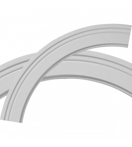 """EM-CR29MO - 29 3/4""""OD x 23 3/4""""ID x 3""""W x 3/8""""P Monique Ceiling Ring (1/4 of complete circle)"""