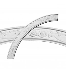 """EM-CR41FL - 41""""OD x 34 1/4""""ID x 3 3/8""""W x 3/4""""P Flower Ceiling Ring (1/4 of complete circle)"""