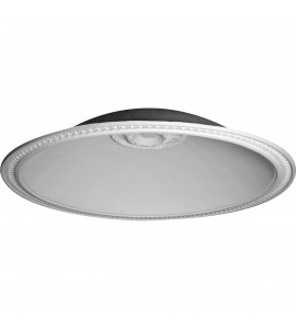 "EM-DOME79HI - 79 1/2""OD x 70 1/2""ID x 16 1/4""D, Hillsborough Running Coin Ceiling Dome, 4 1/2""W Trim (70 1/2"" Diameter x 16 1/2"" Rough Opening)"