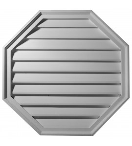 "EM-GVOC18X18D - 18""W x 18""H x 2 1/2""P,  Octagon Gable Vent Louver, Decorative"