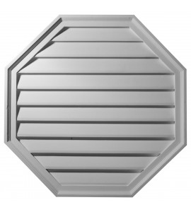 "EM-GVOC30X30D - 30""W x 30""H x 2 3/8""P,  Octagon Gable Vent Louver, Decorative"
