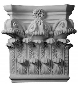 "EM-CAP25X25X08RC - 25 1/4""W x 24 5/8""H x 8 1/4""P Corinthian Capital (Fits Pilasters up to 19 1/8""W x 2 3/4""D)"