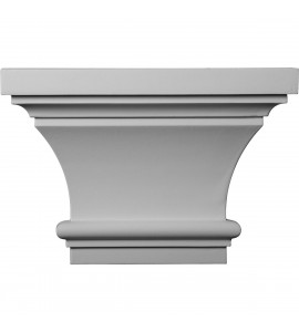 "EM-CAP13X09X06CL - 13""W x 8 7/8""H x 4""P Classic Capital (Fits Pilasters up to 7""W x 1""D)"