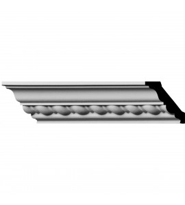 "EM-MLD01X01X02CL - 1 7/8""H x 1 7/8""P x 2 3/4""F x 96""L, (1"" Repeat) Classic Roped Crown Moulding"