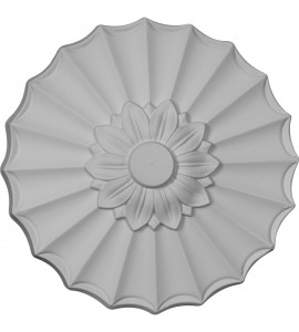 "EM-CM09SH - 9""OD x 1 3/8""P Shakuras Ceiling Medallion (Fits Canopies up to 1 3/8"")"