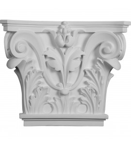 """EM-CAP16X14X04AC - 16 1/2""""W x 13 5/8""""H x 3 3/4""""P Acanthus Leaf Pilaster Capital (Fits Pilasters up to 10 3/8 """"W x 3/4""""D)"""