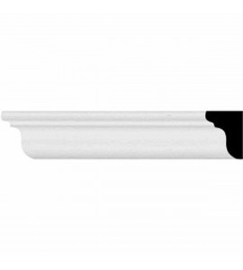 "EM-MLD01X01X01CL - 5/8""H x 1/2""P x 96 1/8""L, (3/4"" Repeat), Classic Smooth Crown Moulding"