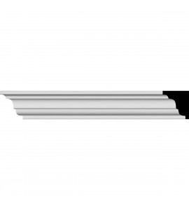 "EM-MLD01X01X01ED - 7/8""H x 5/8""P x 96 1/8""L, (1 1/8"" Repeat), Edinburgh Traditional Smooth Crown Moulding"