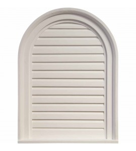 "EM-GVCA18X24D - 18""W x 24""H x 2""P, Cathedral Gable Vent Louver, Decorative"