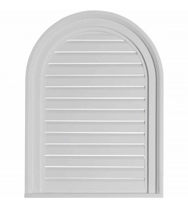 "EM-GVCA18X24F - 18""W x 24""H x 2""P, Cathedral Gable Vent Louver, Functional"