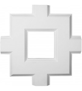 "EM-CC08ISI02X36X36TR - 36""W x 2""P x 36""L Inner Square Intersection for 8"" Traditional Coffered Ceiling System"