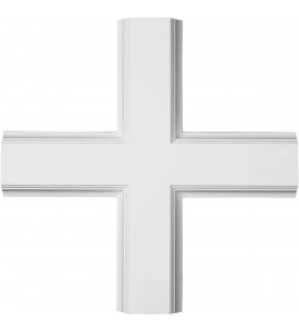 "EM-CC05ICI02X20X20TR - 20""W x 2""P x 20""L Inner Cross Intersection for 5"" Traditional Coffered Ceiling System"