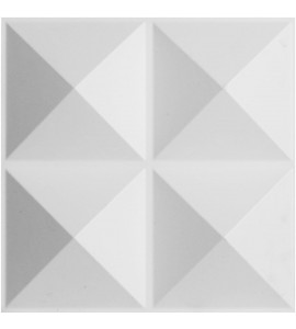 "EM-WP12X12TIWH - 11 7/8""W x 11 7/8""H Tirana EnduraWall Decorative 3D Wall Panel, White"