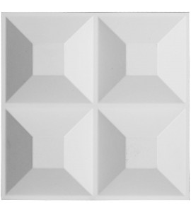 "EM-WP12X12SWWH - 11 7/8""W x 11 7/8""H Swindon EnduraWall Decorative 3D Wall Panel, White"