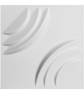 "EM-WP12X12ARWH - 11 7/8""W x 11 7/8""H Artisan EnduraWall Decorative 3D Wall Panel, White"