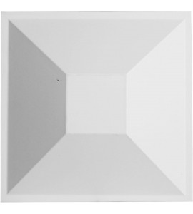 "EM-WP12X12DIWH - 11 7/8""W x 11 7/8""H Diane EnduraWall Decorative 3D Wall Panel, White"
