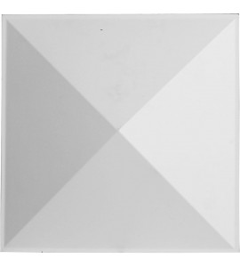 "EM-WP12X12SKWH - 11 7/8""W x 11 7/8""H Sellek EnduraWall Decorative 3D Wall Panel, White"