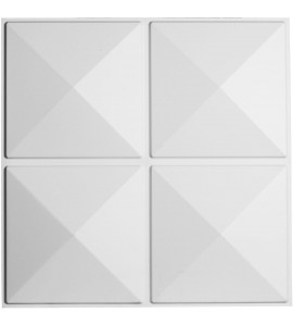 "EM-WP20X20RIWH - 19 5/8""W x 19 5/8""H Richmond EnduraWall Decorative 3D Wall Panel, White"