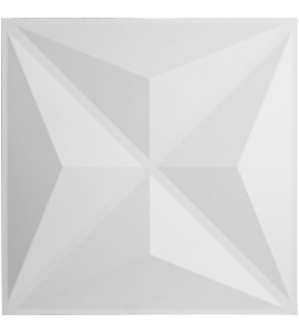"EM-WP20X20HVWH - 19 5/8""W x 19 5/8""H Haven EnduraWall Decorative 3D Wall Panel, White"