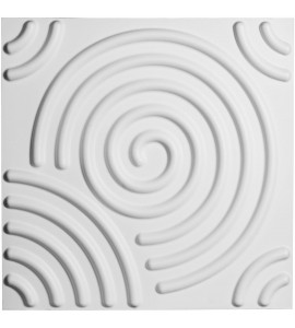 "EM-WP20X20SPWH - 19 5/8""W x 19 5/8""H Spiral EnduraWall Decorative 3D Wall Panel, White"