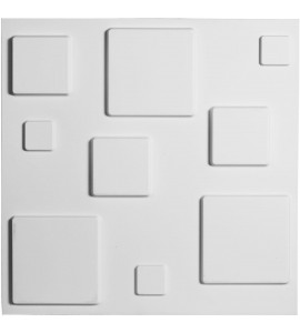 "EM-WP20X20DEWH - 19 5/8""W x 19 5/8""H Devon EnduraWall Decorative 3D Wall Panel, White"