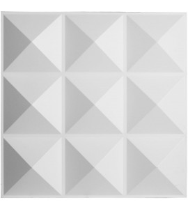 "EM-WP20X20BEWH - 19 5/8""W x 19 5/8""H Benson EnduraWall Decorative 3D Wall Panel, White"