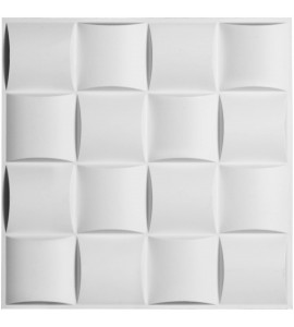 "EM-WP20X20BAWH - 19 5/8""W x 19 5/8""H Baile EnduraWall Decorative 3D Wall Panel, White"
