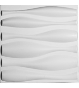 "EM-WP20X20FAWH - 19 5/8""W x 19 5/8""H Fairfax EnduraWall Decorative 3D Wall Panel, White"