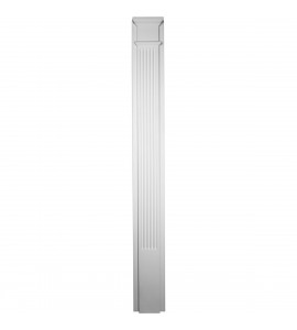 "EM-PIL10X90X02FL - 10""W x 90 1/2""H x 2 1/2""P  with 18"" Attached Plinth, Fluted Pilaster (each)"