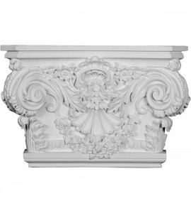 "EM-CAP20X13X05RO - 20 7/8""W x 13 1/2""H x 5 1/2""P Rose Capital (Fits Pilasters up to 15 1/4""W x 2 3/4""D)"