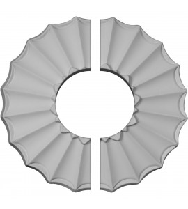 "EM-CM09SH2-03500 - 9""OD x 3 1/2""ID x 1 3/8""P Shakuras Ceiling Medallion, Two Piece (Fits Canopies up to 3 1/2"")"