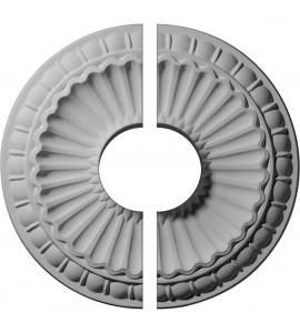 "EM-CM11LI2-03500 - 11 1/4""OD x 3 1/2""ID x 1 1/8""P Linus Ceiling Medallion, Two Piece (Fits Canopies up to 3 1/2"")"