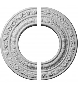 """EM-CM08AD2 - 8 1/8""""OD x 4 1/8""""ID x 1/2""""P Andrea Ceiling Medallion, Two Piece (Fits Canopies up to 4 1/8"""")"""