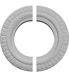 "EM-CM10CL2 - 10 5/8""OD x 5 3/4""ID x 1/2""P Claremont Ceiling Medallion, Two Piece (Fits Canopies up to 7"")"