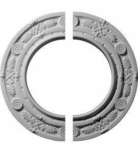 "EM-CM10DN2 - 10""OD x 6 1/8""ID x 1/2""P Daniela Ceiling Medallion, Two Piece (Fits Canopies up to 6 1/8"")"